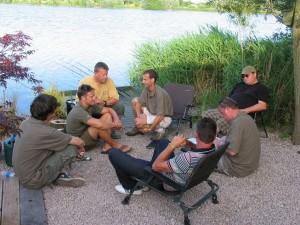 Paul, Max and the European anglers