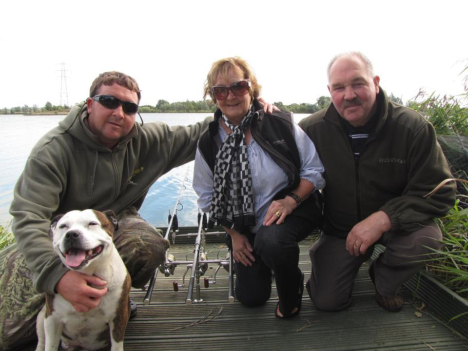 Gerrard, mum dad and carp hound